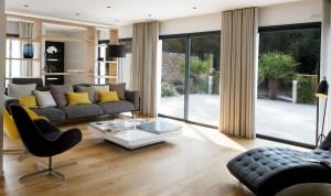 salon contemporain - fauteuil calligaris - canape roche bobois