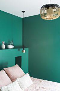 Caroline-Desert-Decoratrice-interieur-Rennes-Paris-chambre-peinture-mur-vert-emeraude-gahard11