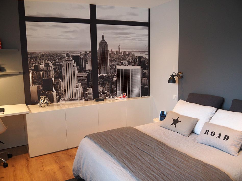 Am nagement de chambres goven caroline desert for Chambre fille new york