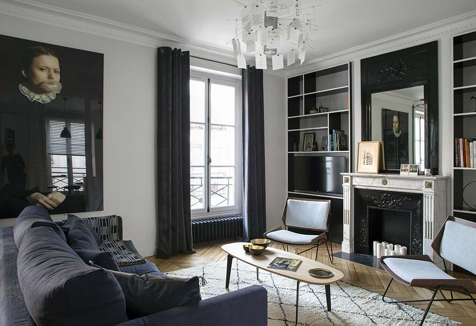 appartement parisien 6 me caroline desert. Black Bedroom Furniture Sets. Home Design Ideas